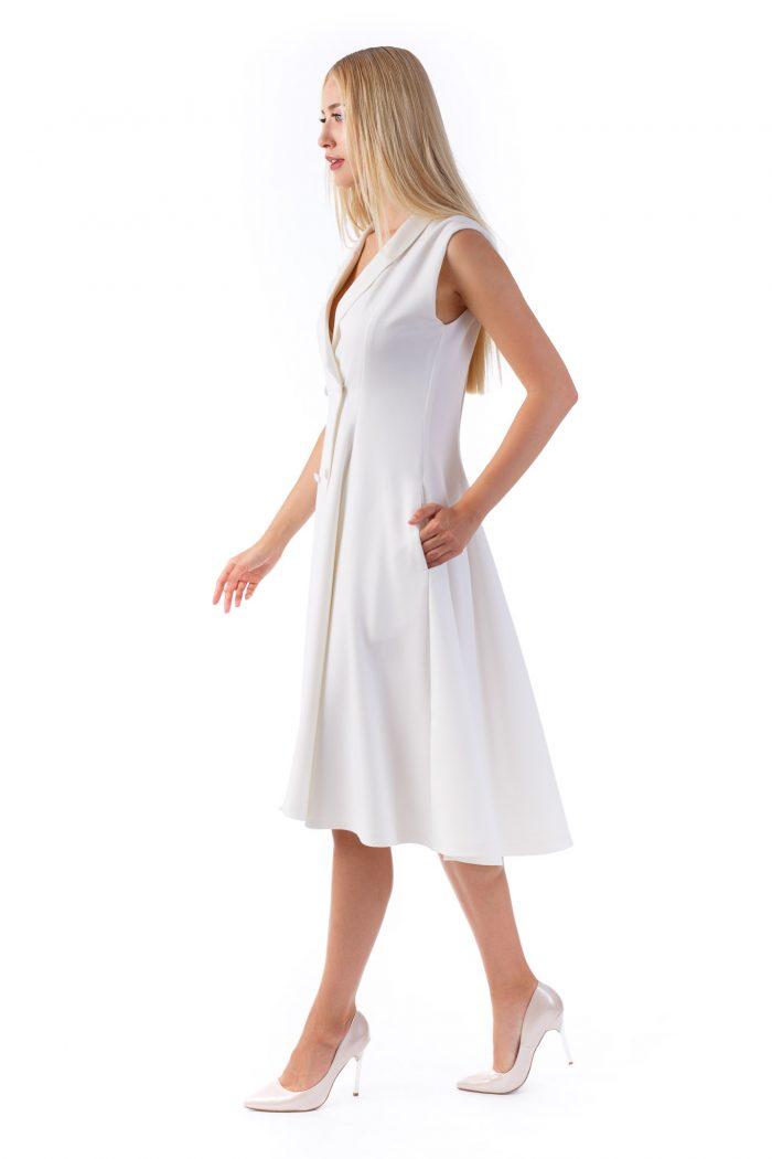 Sinestezic - White Peonie Dress - Nature's Noise Collection