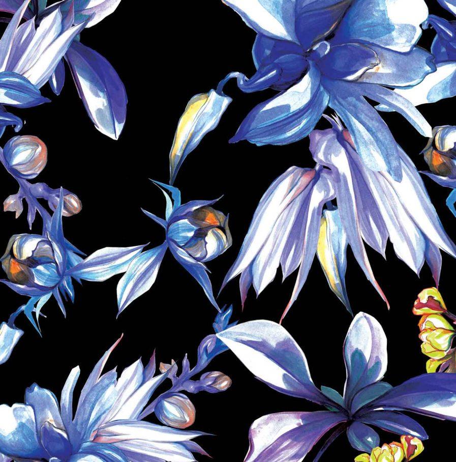 Midnight Bouquet Skirt | Natures Noise Collection | Sinestezic | PRINT
