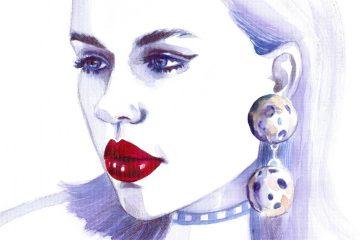 Egith Van Dinther   Fashion Model   Watercolor Illustration   Sinestezic