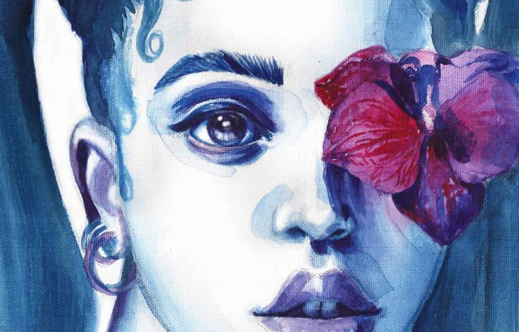 FKA Twigs | Watercolor Beauty Illustration | Sinestezic