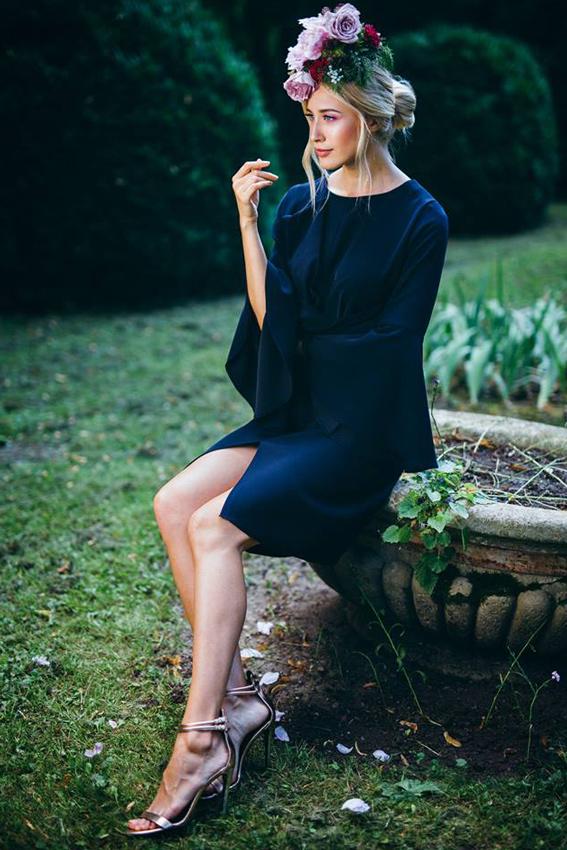 Blue midi evening dress outfit- #SinestezicQueens - Sinestezic