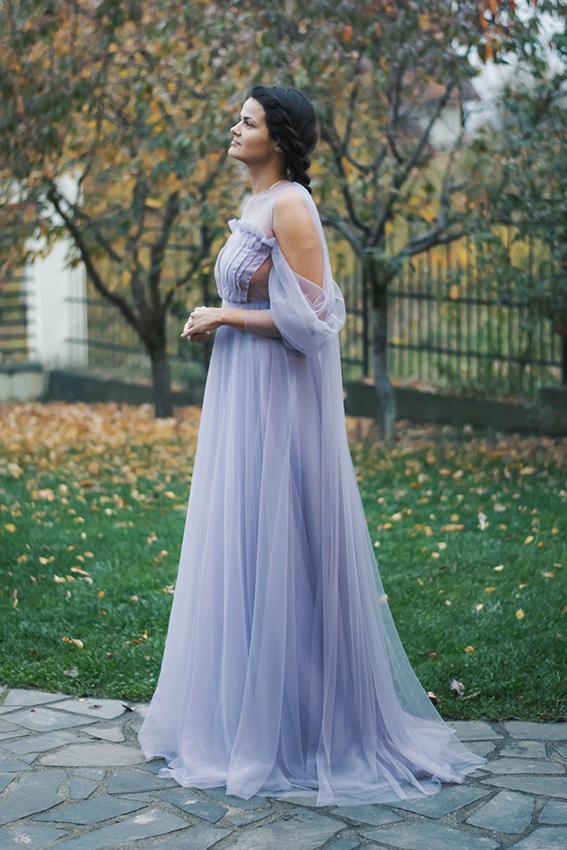 Lila long evening dress- #SinestezicQueens - Sinestezic