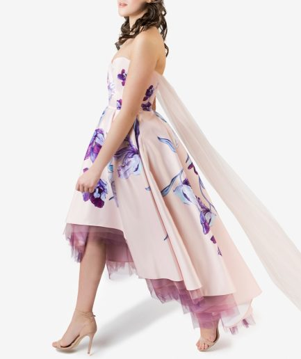 Sinestezic Romanian Fashion Designer | Cocktail dress Daydream | Cocktail dress with floral print | Unique cocktail dress | Personalized cocktail dress