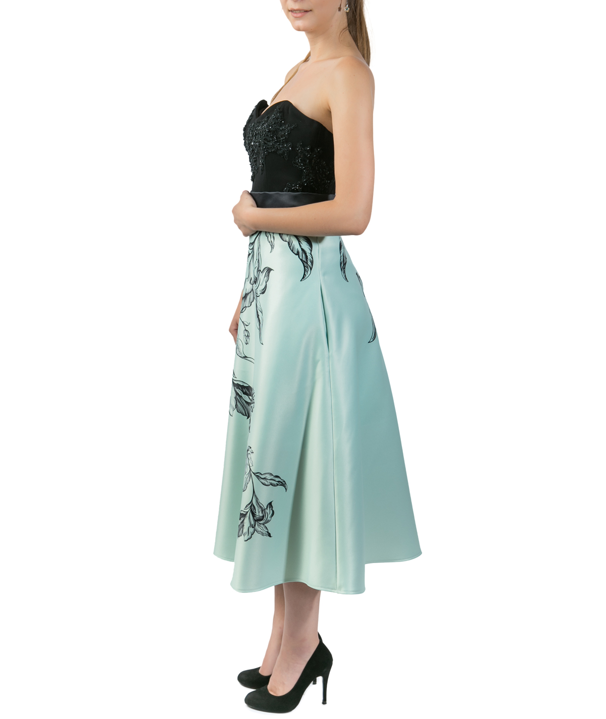 6be8d62471 Green Floral Midi Skirt – DACC