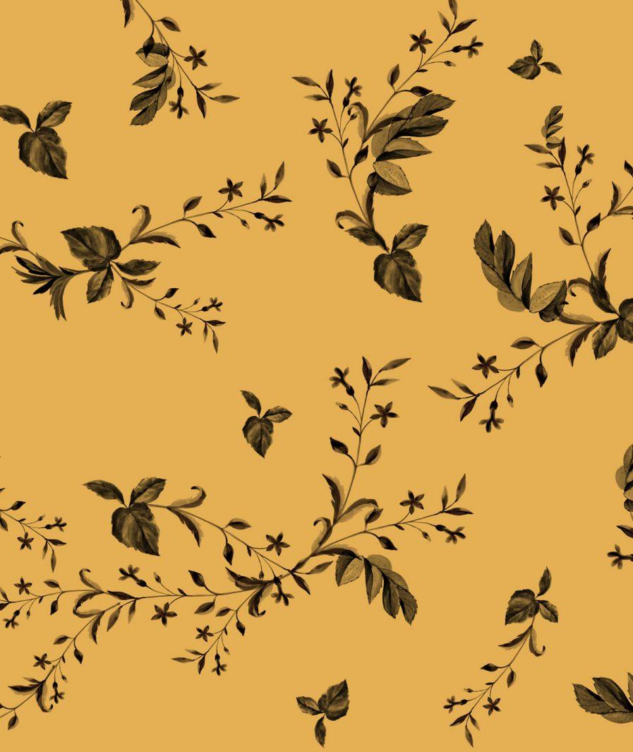 Sinestezic floral print for Yellow Veil midi cocktail dress