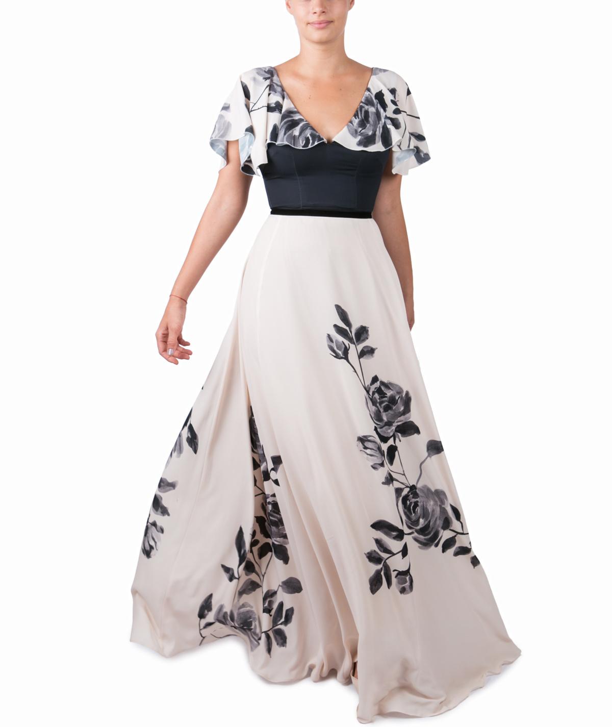 6d455b81508 Fluid Rose – Maxi Evening Dress