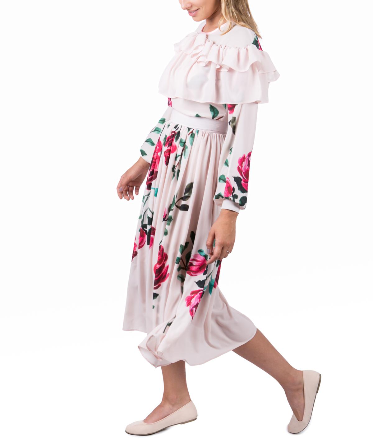 e6ba3fa8d30 Veil Rose Midi Cocktail Dress