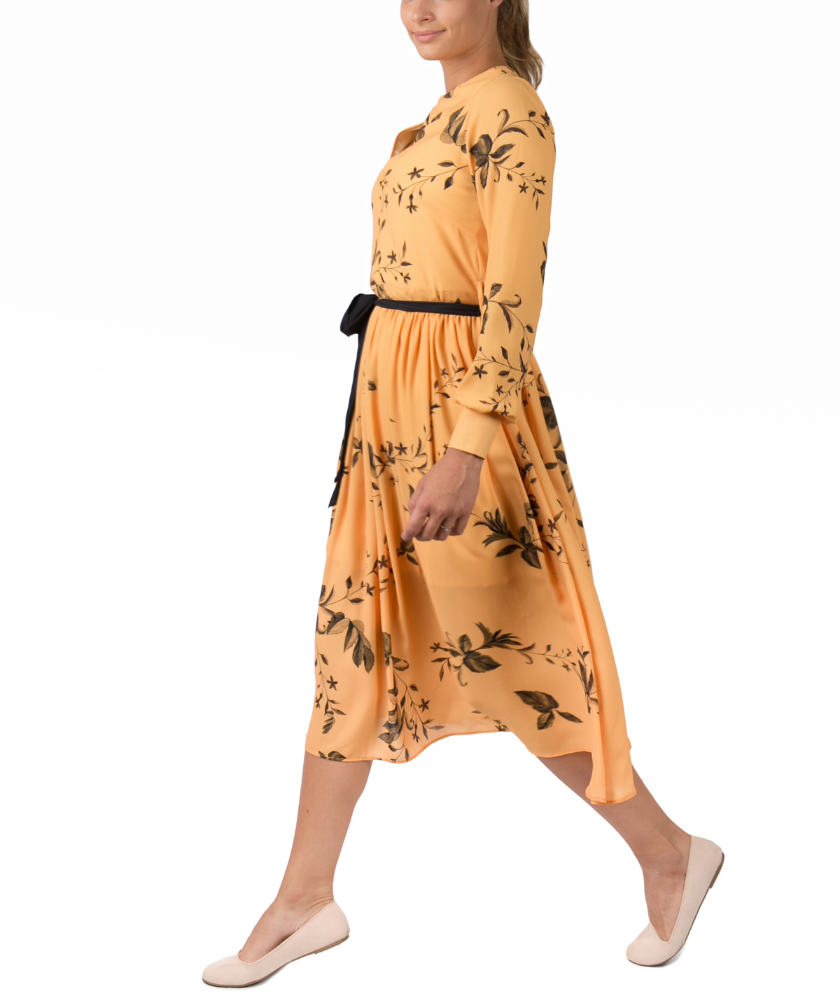 5c6e6cff2cb Yellow Veil Midi Cocktail Dress