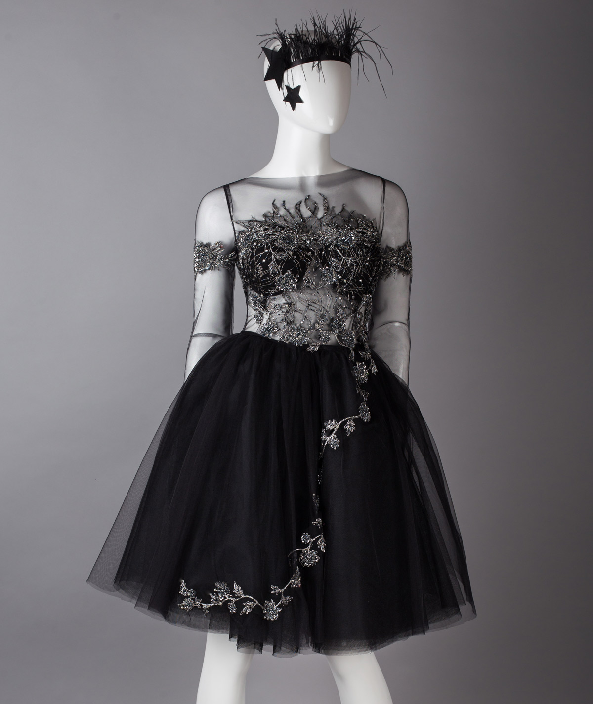 e6693321f31 Black Swan Midi Evening Dress